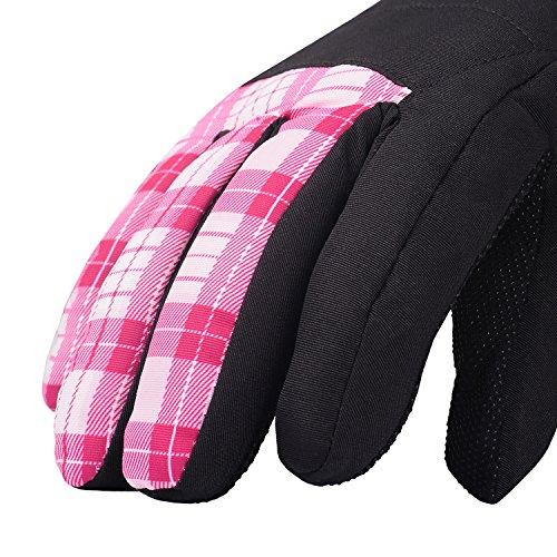 KINEED Skihandschuhe Damen Warm Winter Wasserdicht Snowboardhandschuhe Fahrrad Thermisch Thinsulate Handschuhe - 4