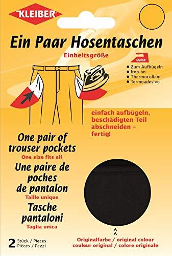 Kleiber + Co.GmbH Quick-EIN-Paar-Hosentasche, schwarz, 18,5 cm x 16 cm