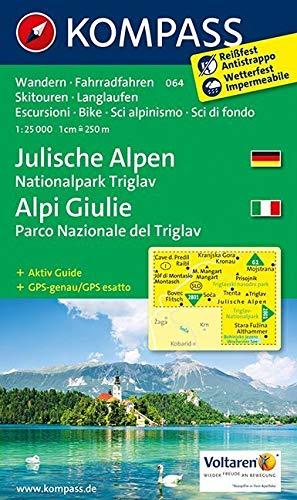 KOMPASS Wanderkarte Julische Alpen - Alpi Giulie: Wanderkarte mit Aktiv Guide, alpinen Skirouten, Loipen und Radrouten. GPS-genau. 1:25000 (KOMPASS-Wanderkarten, Band 64)