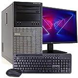 Dell OptiPlex 9010 MT PC Desktop Computer, Intel i5-3470 3.2GHz, 8GB RAM, 500GB HDD, Windows 10 Pro, New 23.6' FHD V7 LED Monitor, New Periphio Keyboard & Mouse, New 16GB Flash Drive, WiFi (Renewed)