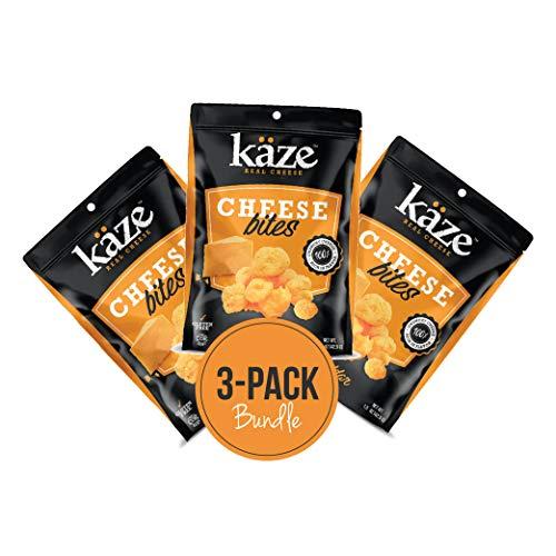 KAZE Cheese - Cheddar Cheese, 100% Cheddar Cheese Snacks, Crunchy Keto Food, Low Carb, High Protein, 1.5oz oz. (3 Pack)