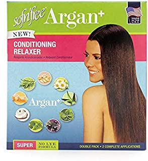 Sofn'Free Hair Care Argan+ No-Lye Cond. Relaxer Double Pack- Super Pk of 1