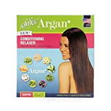 Argan+ No-Lye Conditioning Hair Relaxer Super Strength Double Pack Kit - Conditions, Strengthens, Smooths, and Relaxes Resistant Hair Gently with Olive Oil - Sofn'Free GroHealthy - Single
