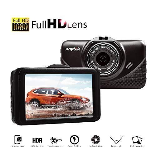 BQT Dash Cams Écran de 3 Pouces Full HD 1080P, avec caméra Grand Angle 170 °, Enregistrement de Boucle, détection de Mouvement et capteur G, Double Lens Night Vision,caméra de Tableau de Bord Voiture