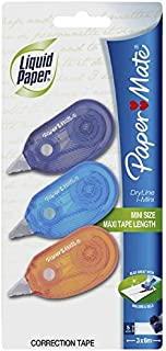 Paper Mate White-Out Correction Tape - Dryline Mini Series - 3 Pack
