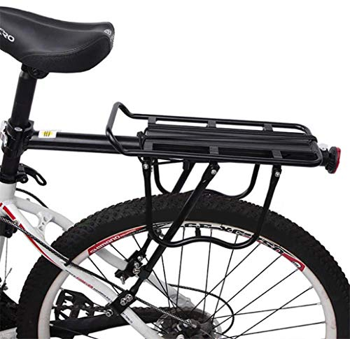 Bicycle Rear Rack Carrier,Bike Luggage Cargo Rack,Adjustable Cycling Seat Rack Holder with Reflector Quick Release,50kg Capacity