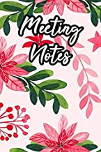 Meeting Notes: Secretary Meeting Notes Business Organizer Floral Notebook With Action Items For Meetings - Coworker & Colleague Gift