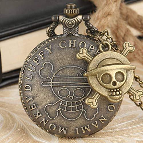 QZH Reloj de Bolsillo Personalizado, Exquisito Reloj Colgante, Regalos para niños, Hombres, Mujeres, Collar, Cadena (tamaño: pequeño)