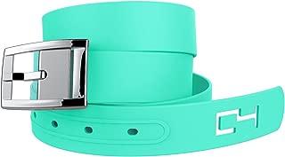 C4 Classic Belt: Mint Strap with Silver Chrome Buckle - Fashion Belt - Waist Belt