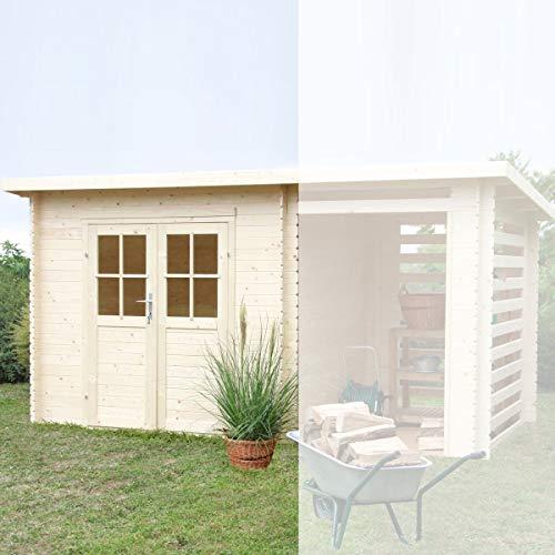 Casetta giardino ERIKA legno nordico GARTENPRO 248x218x198/213H