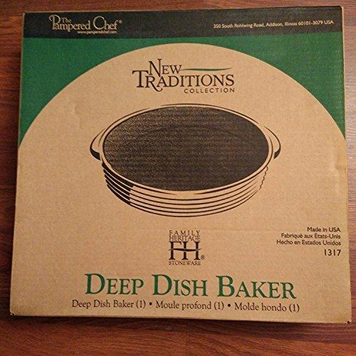 Pampered Chef Family Heritage Stoneware: Deep Dish Baker -Vanilla
