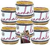 Lion Brand Mandala Yarn - 6 Pack with Pattern (Centaur)