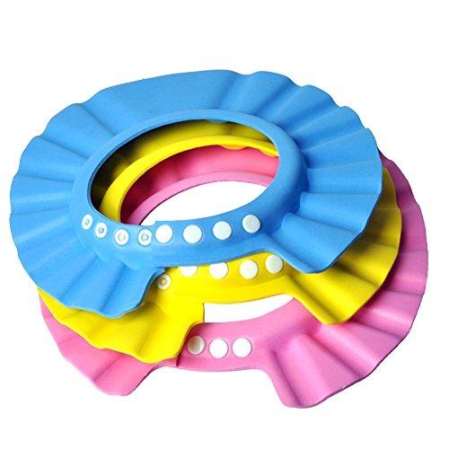 Gorro Ducha 3 pedazos / porción sombrero del bebé de los cabritos del niño del baño del champú de la ducha del casquillo protector del pelo de lavado directa del visera de gorras para niños Baby Care