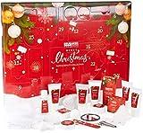BRUBAKER Cosmetics - Calendrier de l'Avent/Noël 2020 - Contient 24 Produits de Bain & Beauté - Coffret XXL de Bien-être - Rouge - Idée Cadeau Femme & Fille
