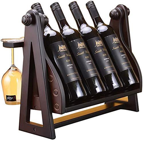 JBNJV Estante para vinos Estante para Copas de Vino Estante para vinos Estante para Vino de Madera Maciza Decoración para el hogar Estante para Vino de Madera Estante para Almacenamiento Bar Café