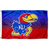 College Flags & Banners Co. Kansas Jayhawks Two Tone Gradient Flag