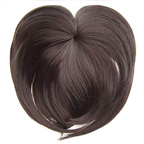 kangOnline Soyeux Clip-on Topper Perruque Fiber Résistant À La Chaleur Extension de Cheveux Volume Plein Hairpiece Naturel Invisible pour Les Femmes
