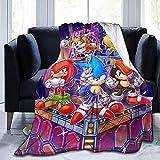 CPDMGS Manta de franela para niños de Sonic The Hedgehog, para decoración de dormitorio, adecuada para sofá, salón, oficina, cama (A2,80 x 120 cm)