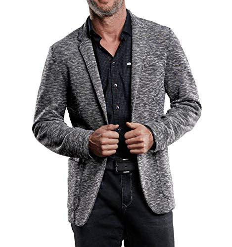 engbers Herren Sweatshirt im Sakko Style, 28767, Grau in Größe L