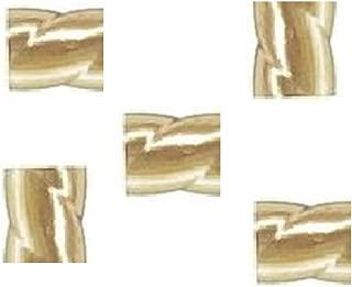 14 K Gold Filled 2 X 2 MM Twist Crimp Beads (Pack of 50)