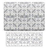 Carcasa rígida para MacBook Air 13 de 13 pulgadas A1466, A1369 para MacBook Air 13 y cubierta de teclado, coronas plateadas, diseño de diamantes y perlas, color blanco