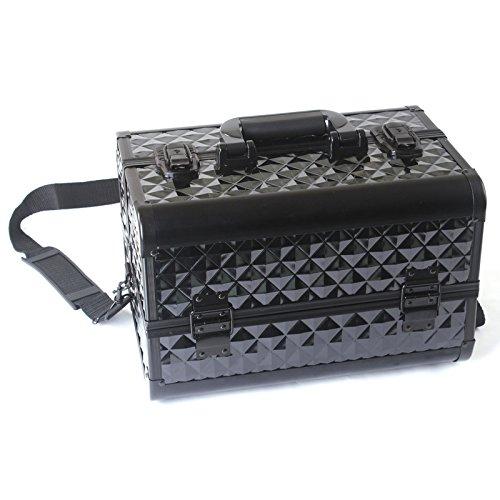 RY@ Multifonctionnel portatif dédié noir boîtier en aluminium eau cube modèle maquillage artiste cosmétiques (35 * 22 * 23,5 cm)