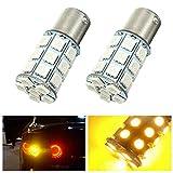 Yuquanxin Par 2 1W 5050 27SMD LED Lámpara de la luz de la señal de la señal de Giro del Coche Amarillo de la Bombilla inversa 12V Durable