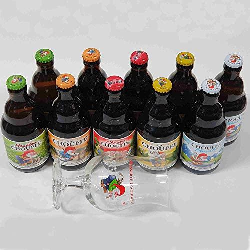 Caja Selección 10 Cervezas Chouffe de 5 tipos y Copa Original
