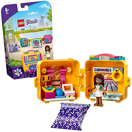 LEGO 41671 Friends Andreas Schwimmstar-Würfel, Kinderspielzeug, Spielzeug ab 6 Jahre mit Mini Puppe, Geschenk für Mädchen und Jungen