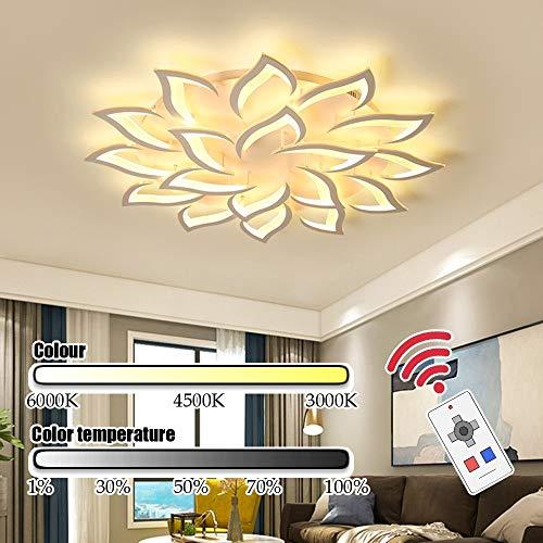 KK Timo lamparas Techo Aumentar el estéreo 3D en Forma de pétalo de la lámpara del Techo de la Sala de reuniones Sala de LED lámpara de 100W Conjunto Completo de Moderna iluminación del hogar