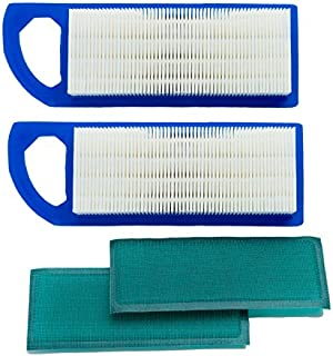 HOODELL 2 Pack 697153 Air Filter, Compatible for Briggs and Stratton 698083 795115, John Deere gy20573, Premium Lawn Mower Air Cleaner