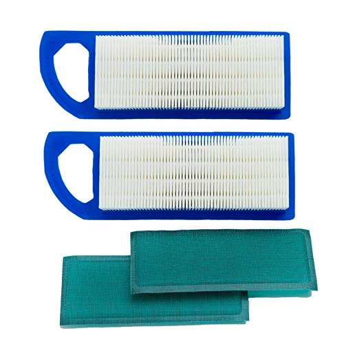 HOODELL 2 Pack 697153 Air Filter, Compatible with Briggs and Stratton 698083 795115, John Deere gy20573, Premium Lawn Mower Air Cleaner