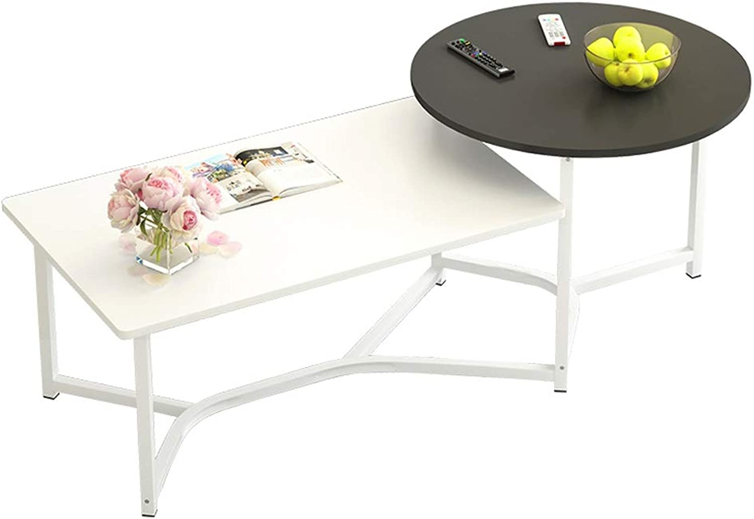 Creative Nordic Coffee Table Simple Tea Table Tea Table Modern Small Apartment Living Room Square Small Table Economy Side Table 120x50x40cm ==