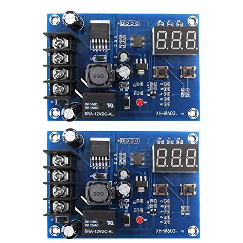 Módulo de carga de la batería Junta XH-M603 12-24V Control de carga interruptor protección voltaje pantalla 2 unids nuevo