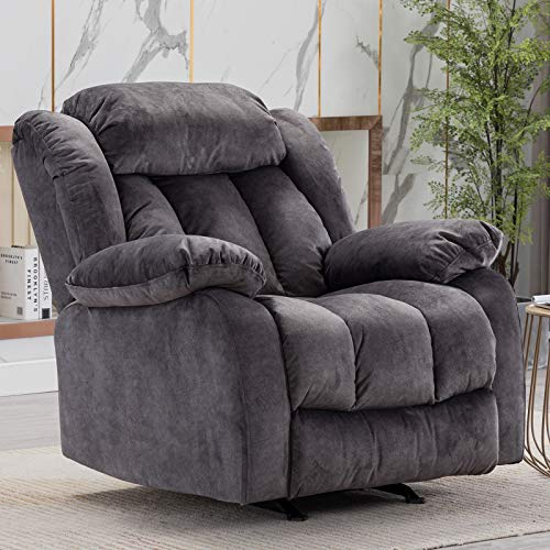 CANMOV Rocker Recliner Chair, Heavy Duty Reclining Chair with Contemporary Overstuffed Arms and...