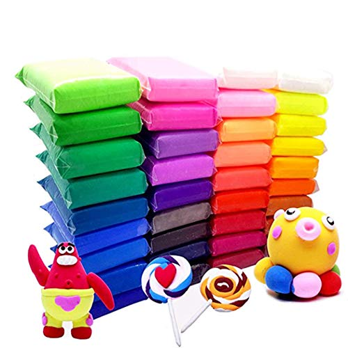 36 Bright Color Air Dry Super Light DIY Clay Craft Kit Modeling Clay Artist Studio