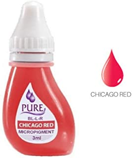 BIOTOUCH Micropigment PURE CHICAGO RED Pigment Color Permanent Makeup Microblading Supplies Eyebrow Shading Micropigmentation Cosmetic Tattoo Ink Lip Eyeliner Feathering Hair Stroke 6-PACK 3ml Each