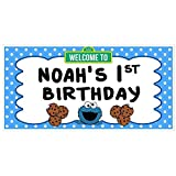 Cookie Monster Birthday Banner Personalized Party...