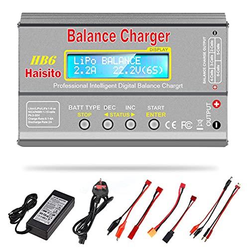 Haisito Lipo Charger, 80W 6A Balance Charger for LiPo Li-ion LiFe NiCd NiMh...