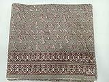 Indianhandicraft Jaipuri Kantha - Funda para cama de estilo vintage, de algodón, diseño de animales gudri