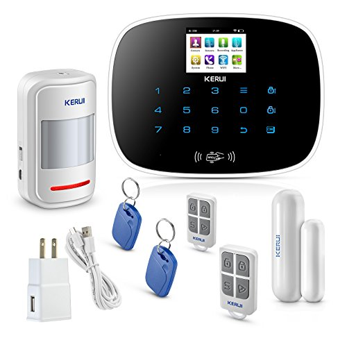 KERUI W193 WiFi 3g gsm Smart Home Security Burglar Alarm System DIY Basic Kit Auto Dial Alert,Expandable Up to 99 Intrusion Sensors/Remote Keyfobs,24/7/365 Monitoring No Monthly Fee