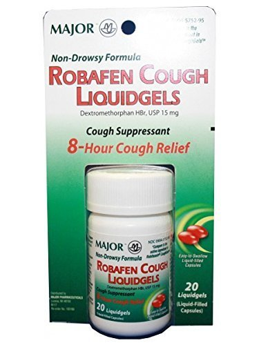 Robafen Cough Liquidgels Dextromethorphan HBr, USP 15mg, 20 Liquidgels (6 Packs)