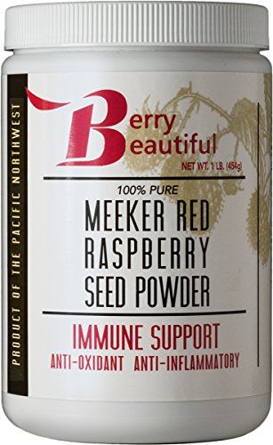 Meeker Red Raspberry Seed Powder - 1 lb (454 Grams) - Ellagic Acid and Ellagitannins Supplement - Milled from Locally Grown Raspberry Seed That is Cold Pressed by Berry Beautiful
