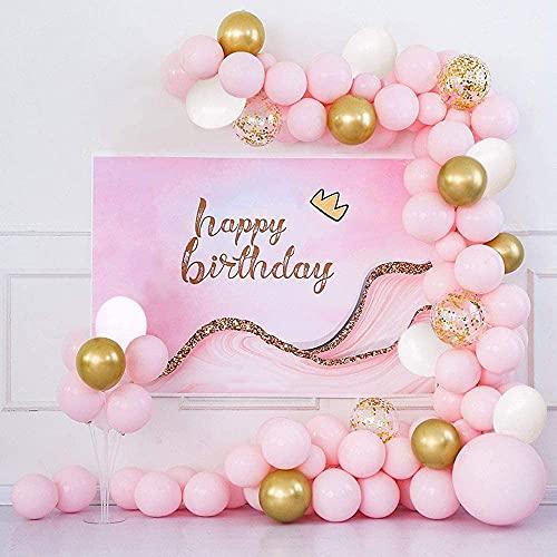 (121 PCS) Kit de Guirnalda de Globos de Fiesta Globos de Fiesta de Oro Rosa Globos de Confeti de Látex para Bodas Fiestas Baby Shower Bodas Cumpleaños