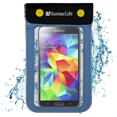 SumacLife Universal Waterproof Case for Motorola Moto E, Moto G, Moto X and Other Motorola Smartphone, Cellphone, Blue