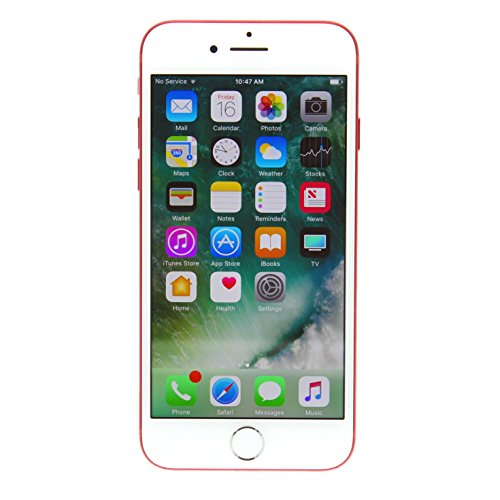 Apple iPhone 7 128GB Unlocked GSM 4G LTE Phone w/ 12MP Camera - Red (Renewed)