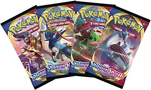 Pokemon Sword and Shield - Booster Pack Lot - 4 Sealed Packs