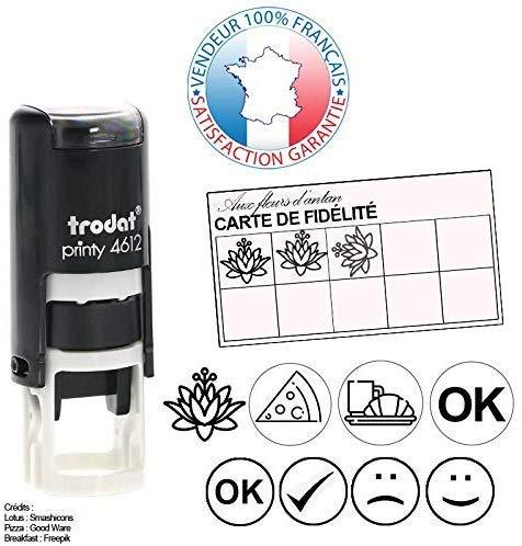 Trodat PRINTY 4612   Stempelkussen professioneel speciaal voor visitekaartjes   4 kleuren verkrijgbaar   Stempel 12 mm gratis (zwart)
