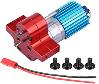Baoblaze 370 Motor + Center Gearbox + Heat Sink Assembly for WPL RC Semi-Truck Military Truck Parts - Red