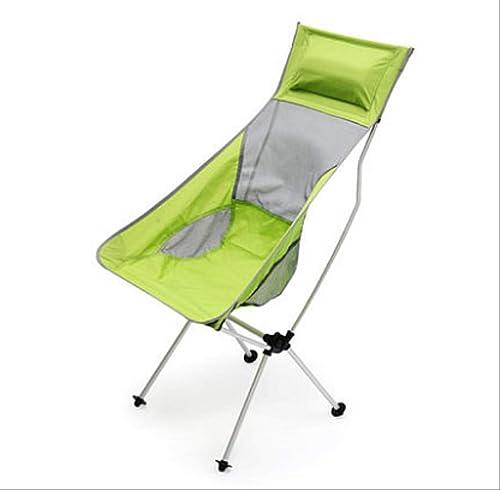 YLCJ Chaise Pliante d'extérieur Ultra légère Chaise Pliante réglable en Hauteur Sac à Dos, Pique-Nique, pêche 14 Fishing Chair